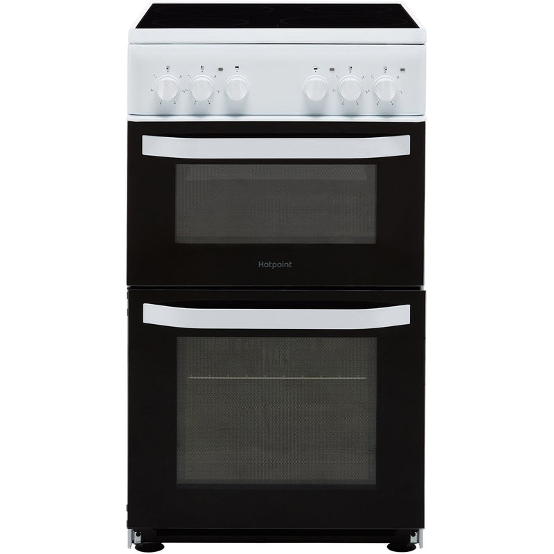 Hotpoint Cloe HD5V92KCW 50cm Electric Cooker with Ceramic Hob - White - A Rated