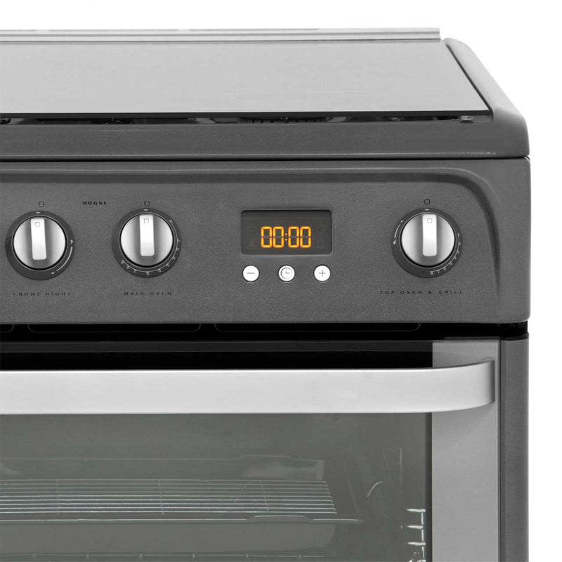 Hotpoint Ultima HUG61G 60cm Gas Cooker with Variable Gas Grill - Graphite - A+/A Rated