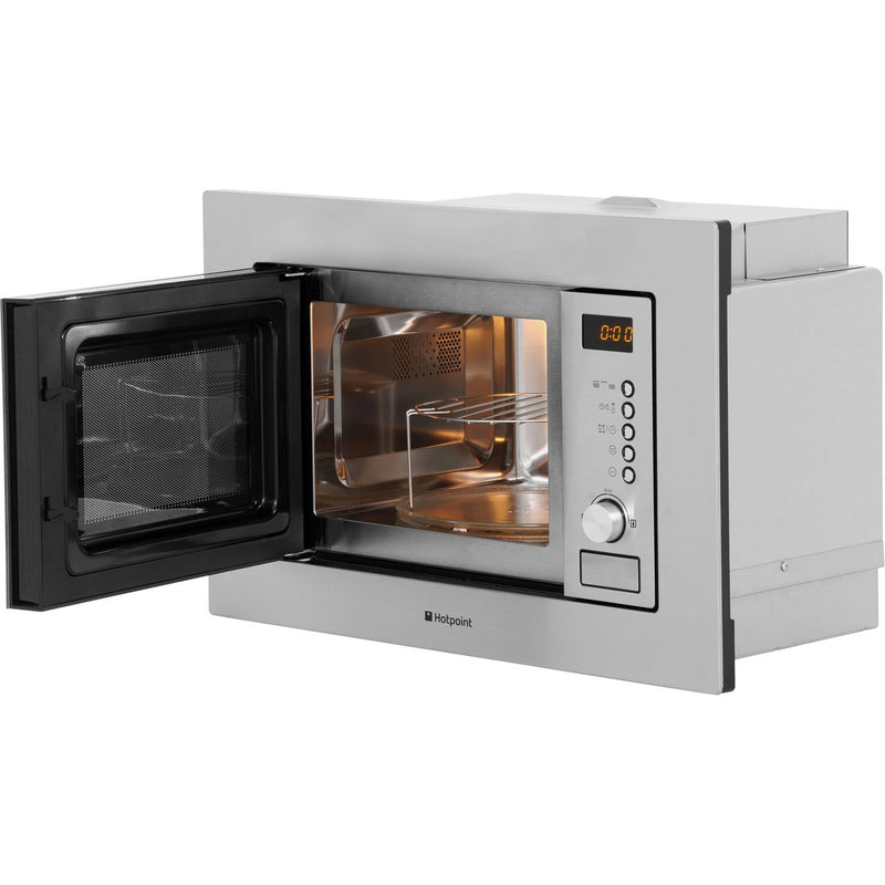 Hotpoint MWH122.1X Built In Microwave With Grill - Stainless Steel