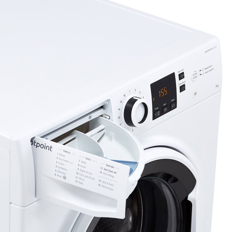Hotpoint NSWA963CWWUK 9Kg Washing Machine with 1600 rpm - White - A+++ Rated