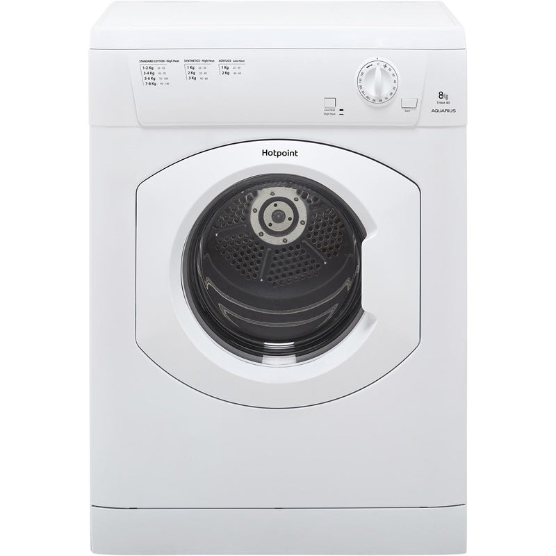Hotpoint TVHM80CP 8Kg Vented Tumble Dryer - White - C Rated