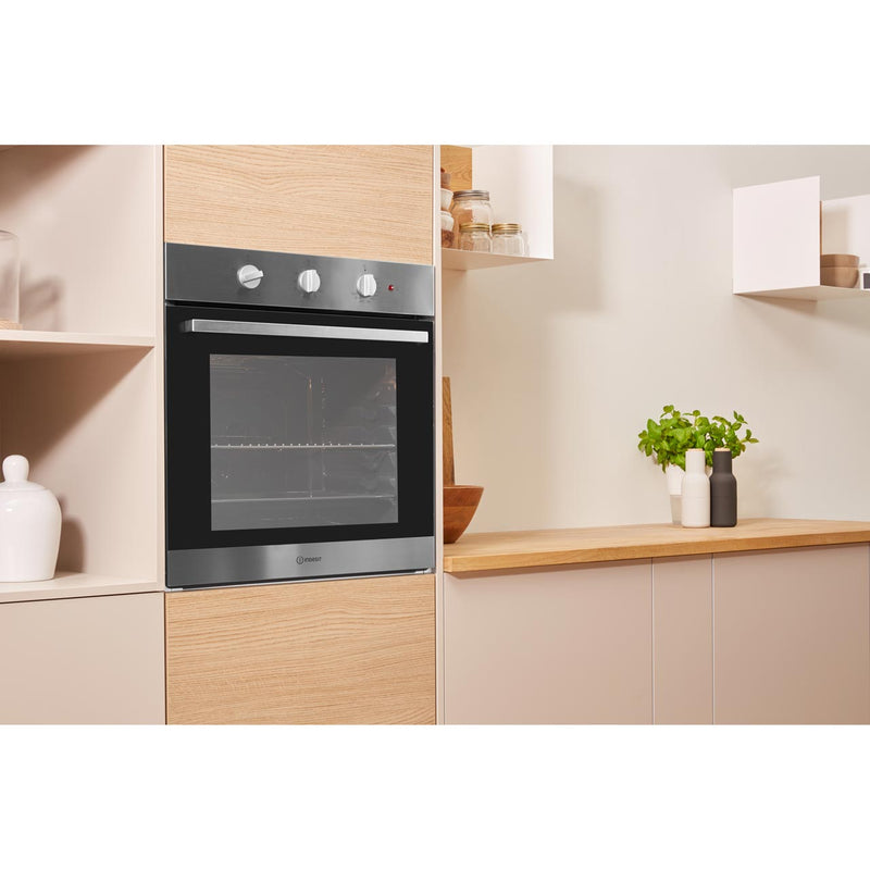 Indesit Aria IFW6230IX Built In Electric Single Oven - Stainless Steel - A Rated
