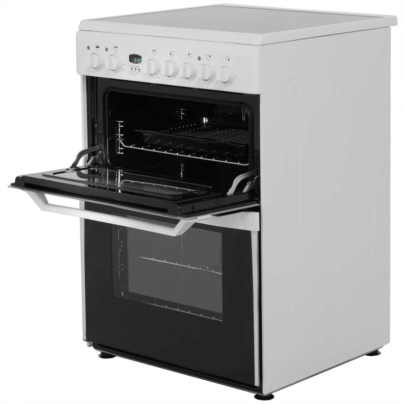 Indesit Advance ID60C2WS Electric Cooker with Ceramic Hob - White - B/B Rated