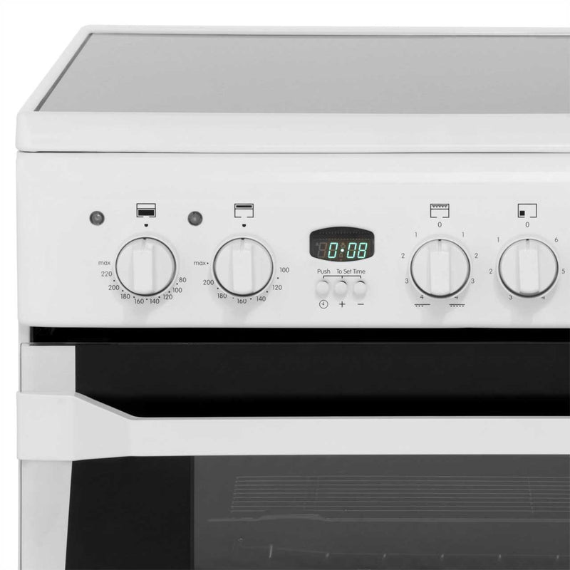 Indesit Advance ID60C2XS Electric Cooker with Ceramic Hob - Stainless Steel - B/B Rated
