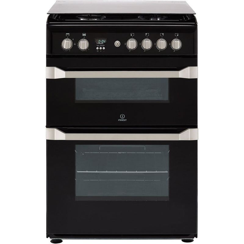 Indesit Advance ID60G2K Gas Cooker - Black - A+/A Rated