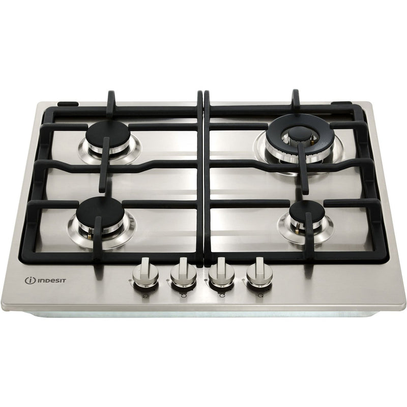 Indesit Aria THP641W/IX/I 58cm Gas Hob - Stainless Steel