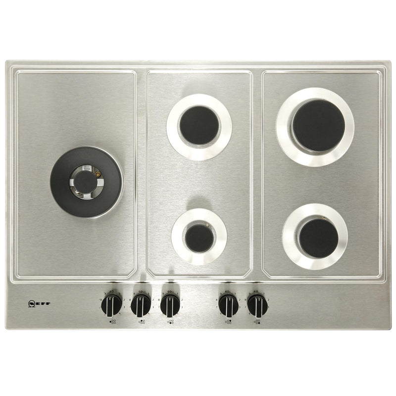 NEFF N70 T27DS79N0 75cm Gas Hob - Stainless Steel