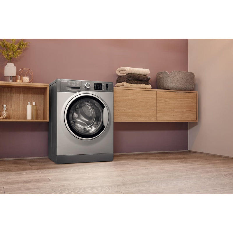 Hotpoint ActiveCare NM10944GSUK 9Kg Washing Machine with 1400 rpm - Graphite - A+++ Rated