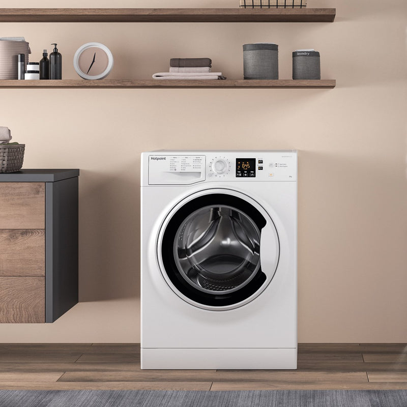 Hotpoint NSWA843CWWUK 8Kg Washing Machine with 1400 rpm - White - A+++ Rated