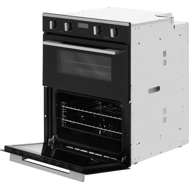 Rangemaster RMB7245BL/SS Built Under Double Oven - Black - A/A Rated