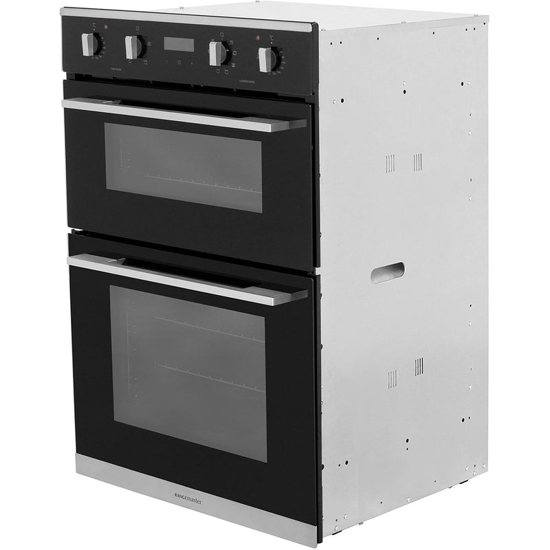 Rangemaster RMB9048BL/SS Built In Double Oven - Black - A/A Rated