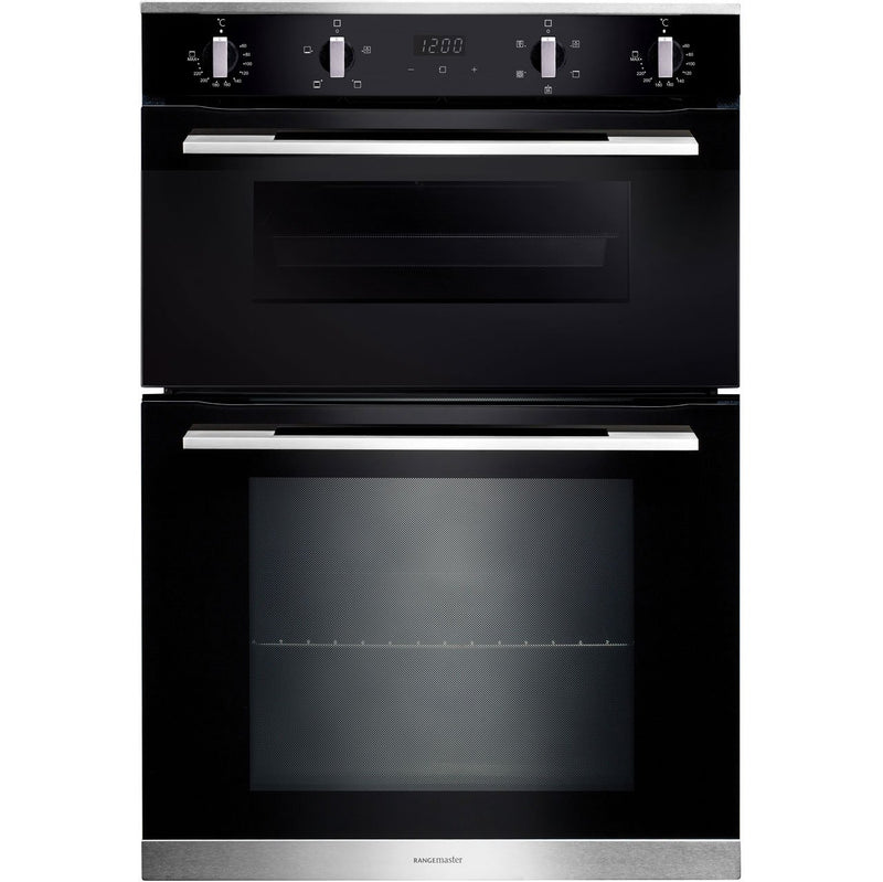 Rangemaster RMB9045BL/SS Built In Double Oven - Black - A/A Rated