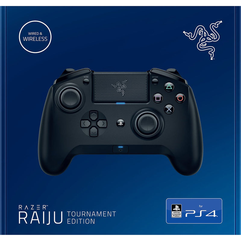 Razer Wireless Raiju Tournament Edition PS4 Gaming Controller - Black