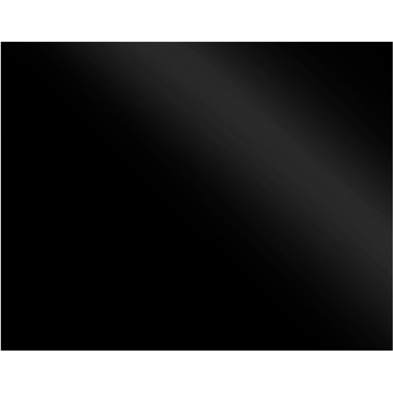 Non-Branded SBK 110 110 cm Coloured Glass Splashback - Black Glass