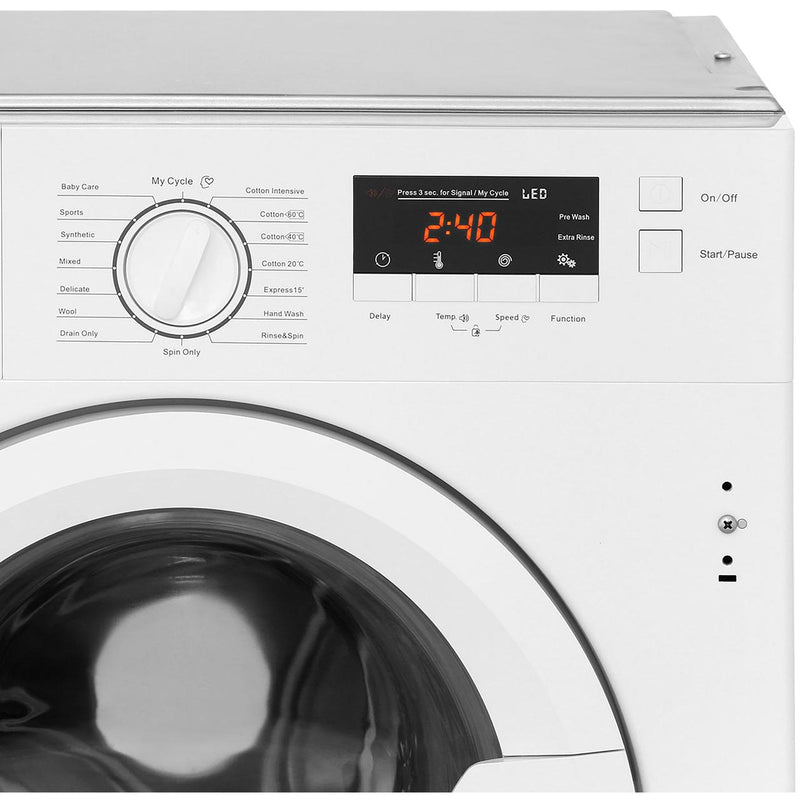 Stoves IWM8KG Integrated 8Kg Washing Machine with 1400 rpm - White - A+++ Rated