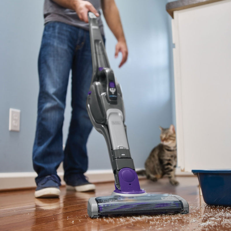 Black + Decker 2 in 1 cordless Pet Dustbuster with Smart Tech SVJ520BFSP-GB Cordless Vacuum Cleaner with Pet Hair Removal and up to 25 Minutes Run Time