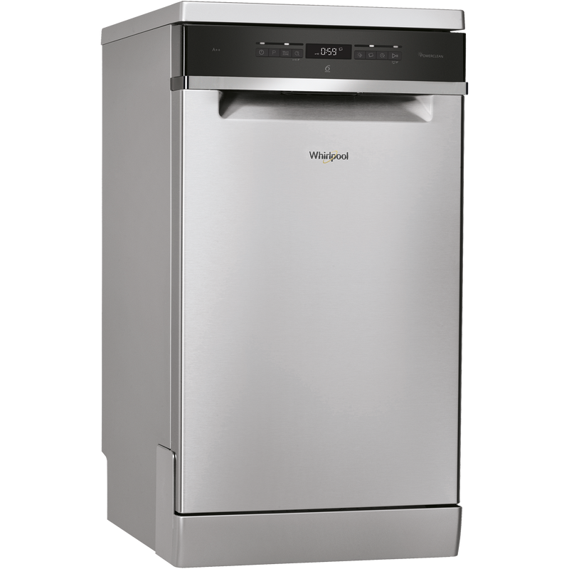 Whirlpool WSFO3T223PCXUK Slimline Dishwasher - Stainless Steel - A++ Rated