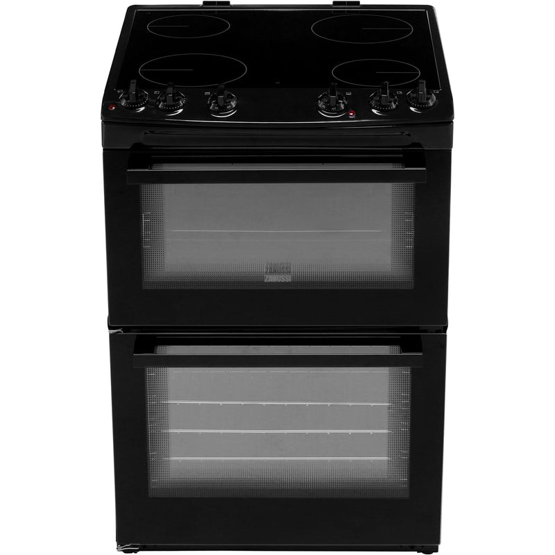 Zanussi ZCV66050WA 60cm Electric Cooker with Ceramic Hob - White - A/A Rated