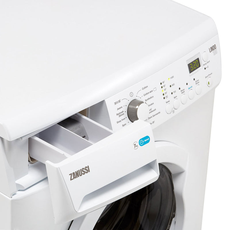 Zanussi Lindo100 ZWF71443W 7Kg Washing Machine with 1400 rpm - White - A+++ Rated