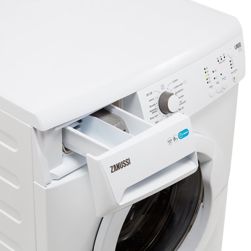Zanussi Lindo100 ZWF81240NW 8Kg Washing Machine with 1200 rpm - White - A+++ Rated