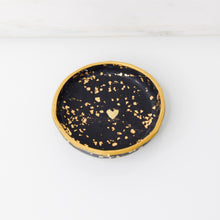 Load image into Gallery viewer, Gold Flake Golden Heart Clay Dish