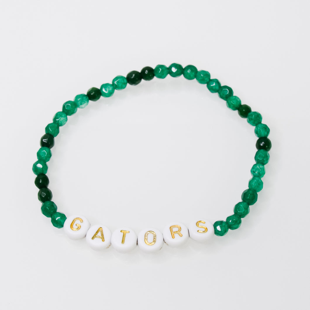 Gemstones and Initial Bracelet