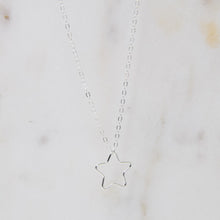 Load image into Gallery viewer, Open Star Necklace - Silver