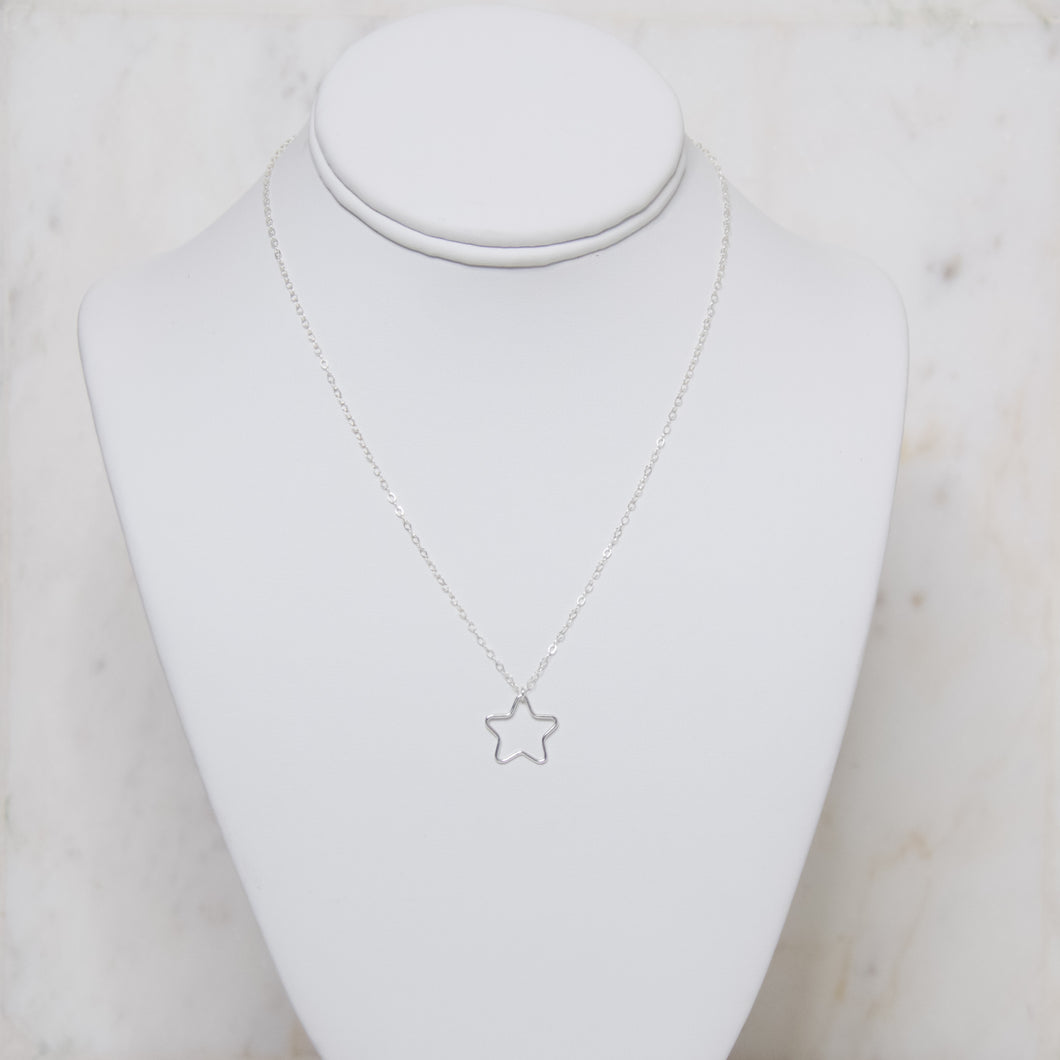 Open Star Necklace - Silver