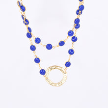Load image into Gallery viewer, Blue Enamel Layering Necklace