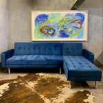 Load image into Gallery viewer, Petrol blue sofa