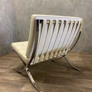 Chrome and leather Barcelona chair