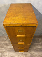 Load image into Gallery viewer, Midcentury Filing Cabinet In Plywood And Oak
