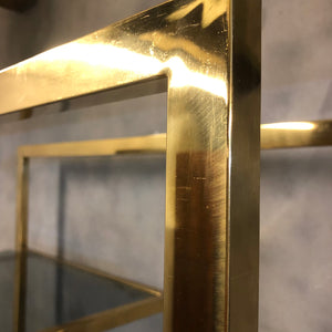Bronze steel shelving