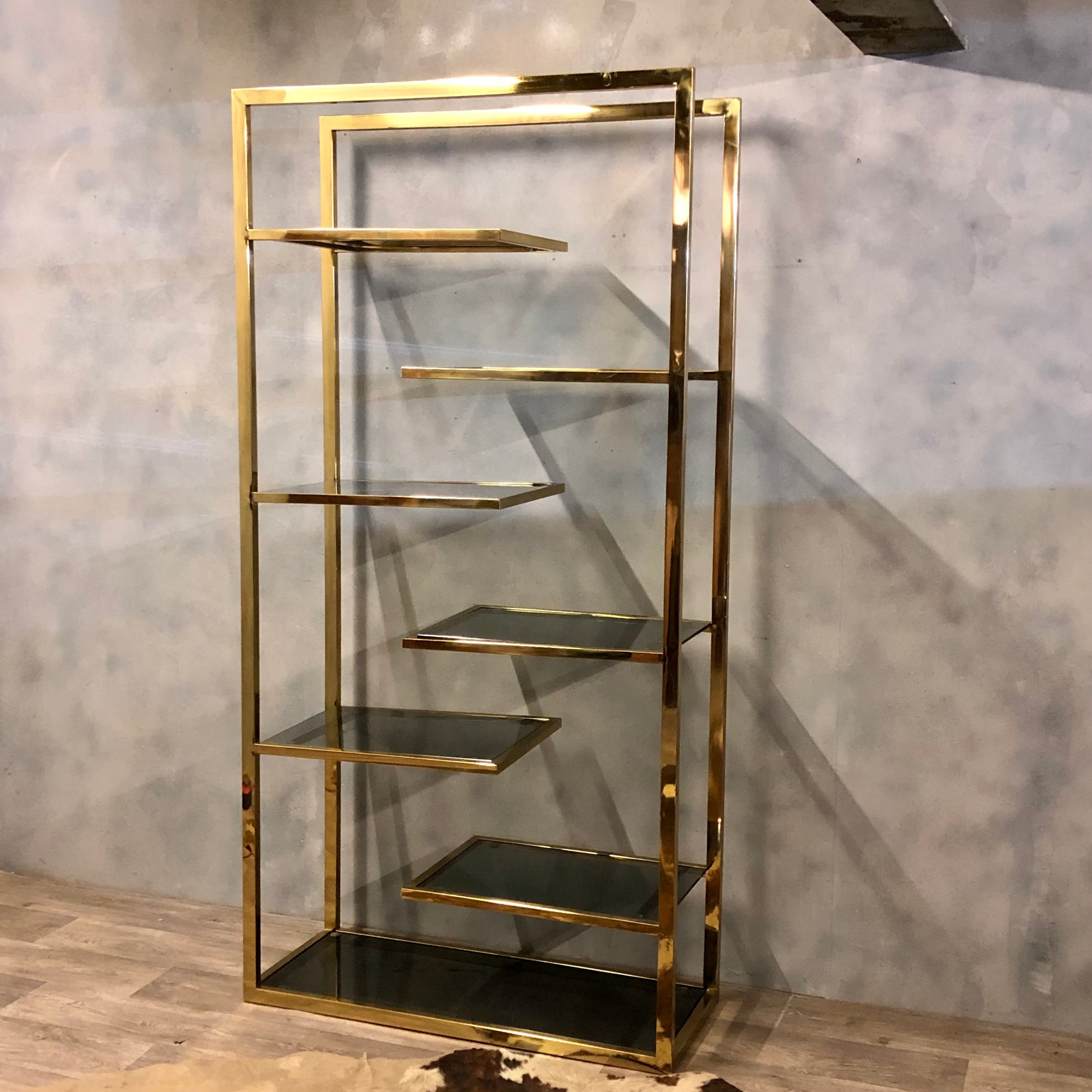 Room divider in bronze steel