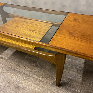 Teak coffee table and magazine shelf