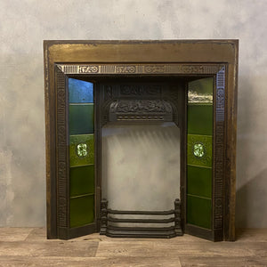 Cast iron fire surround