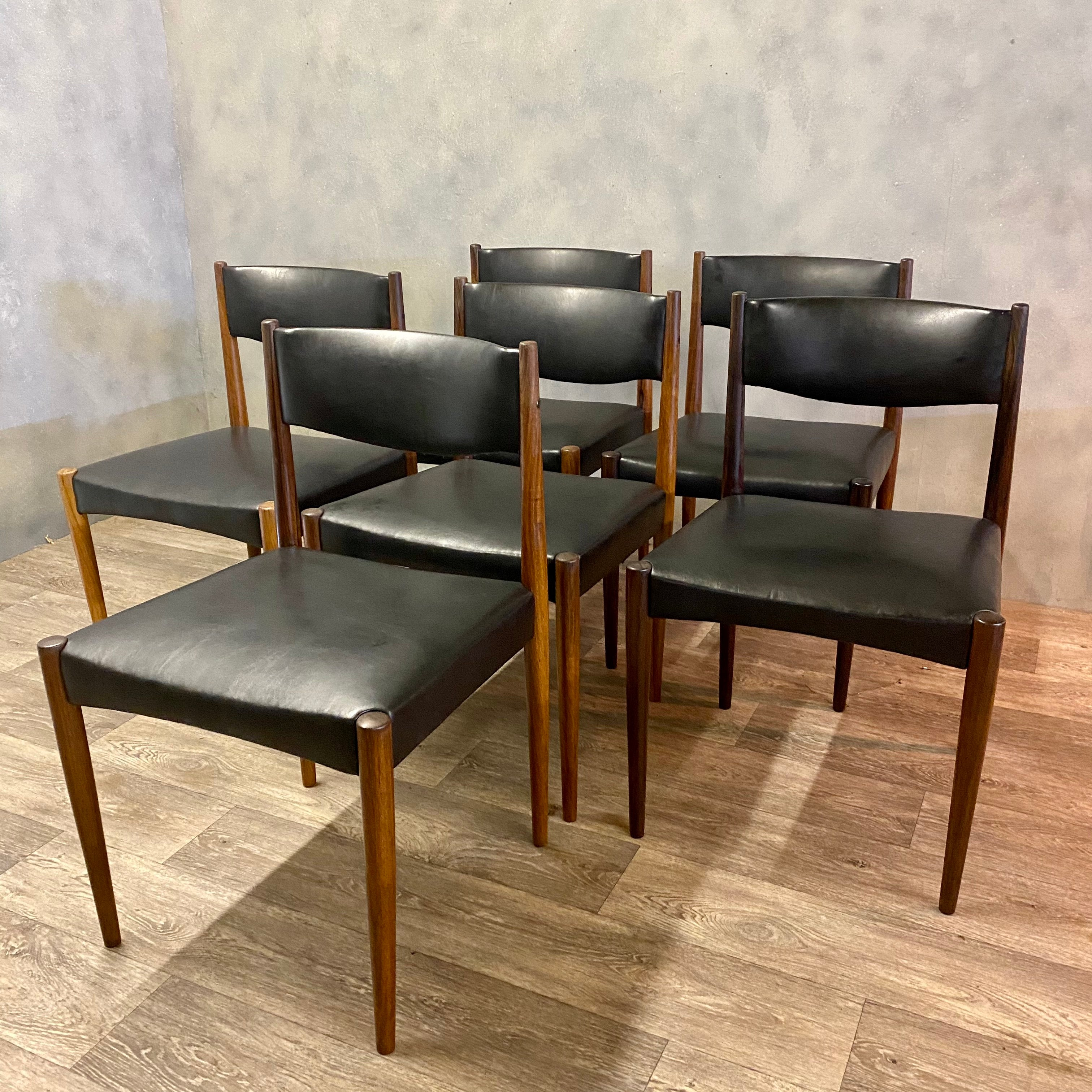 Rosewood midcentury dining chairs