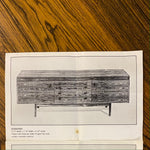 Load image into Gallery viewer, Sideboard midcentury brochure