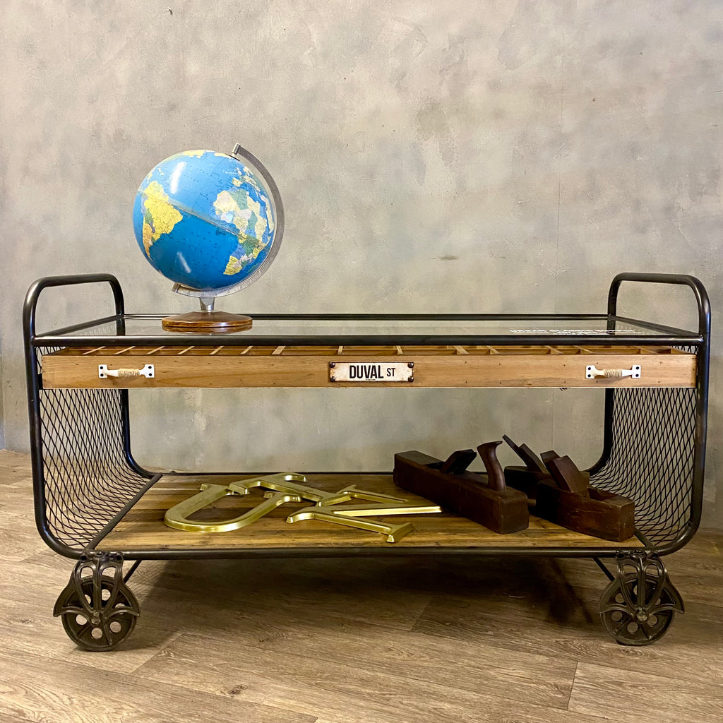 Industrial Style Trolley Cabinet