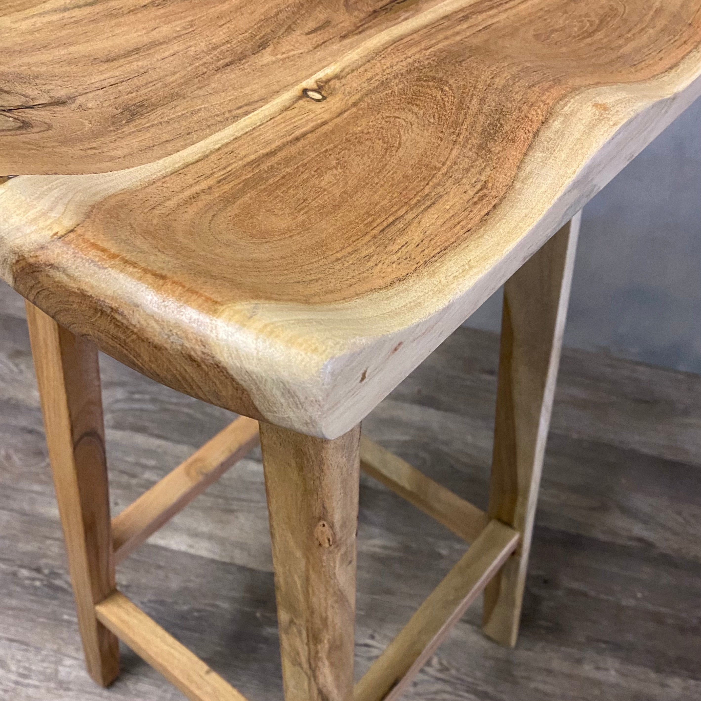 Acacia kitchen stools