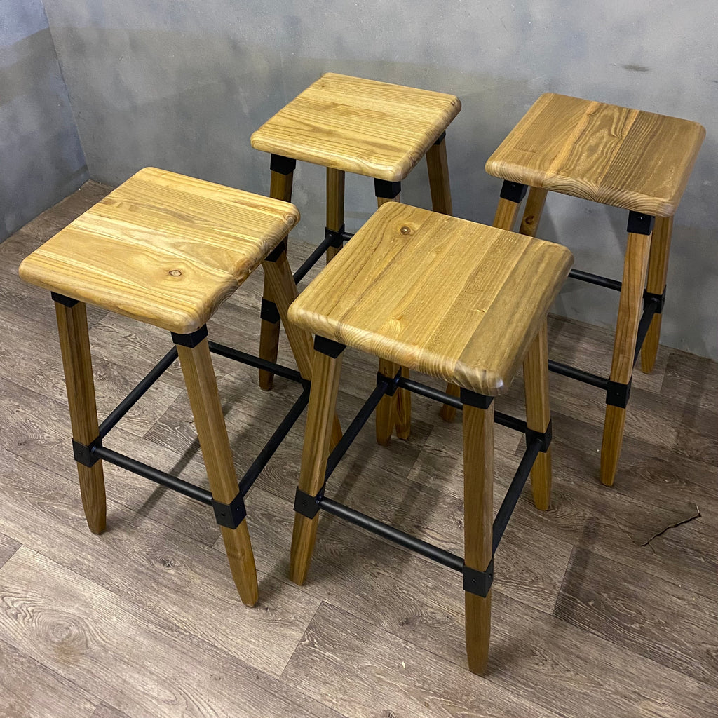 Stools Timber and Steel Industrial Style