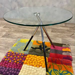 Glass Coffee Side Table 1970s
