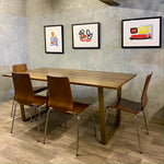 Load image into Gallery viewer, Industrial Style Table Hardwood Steel