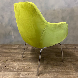 Faux suede chair