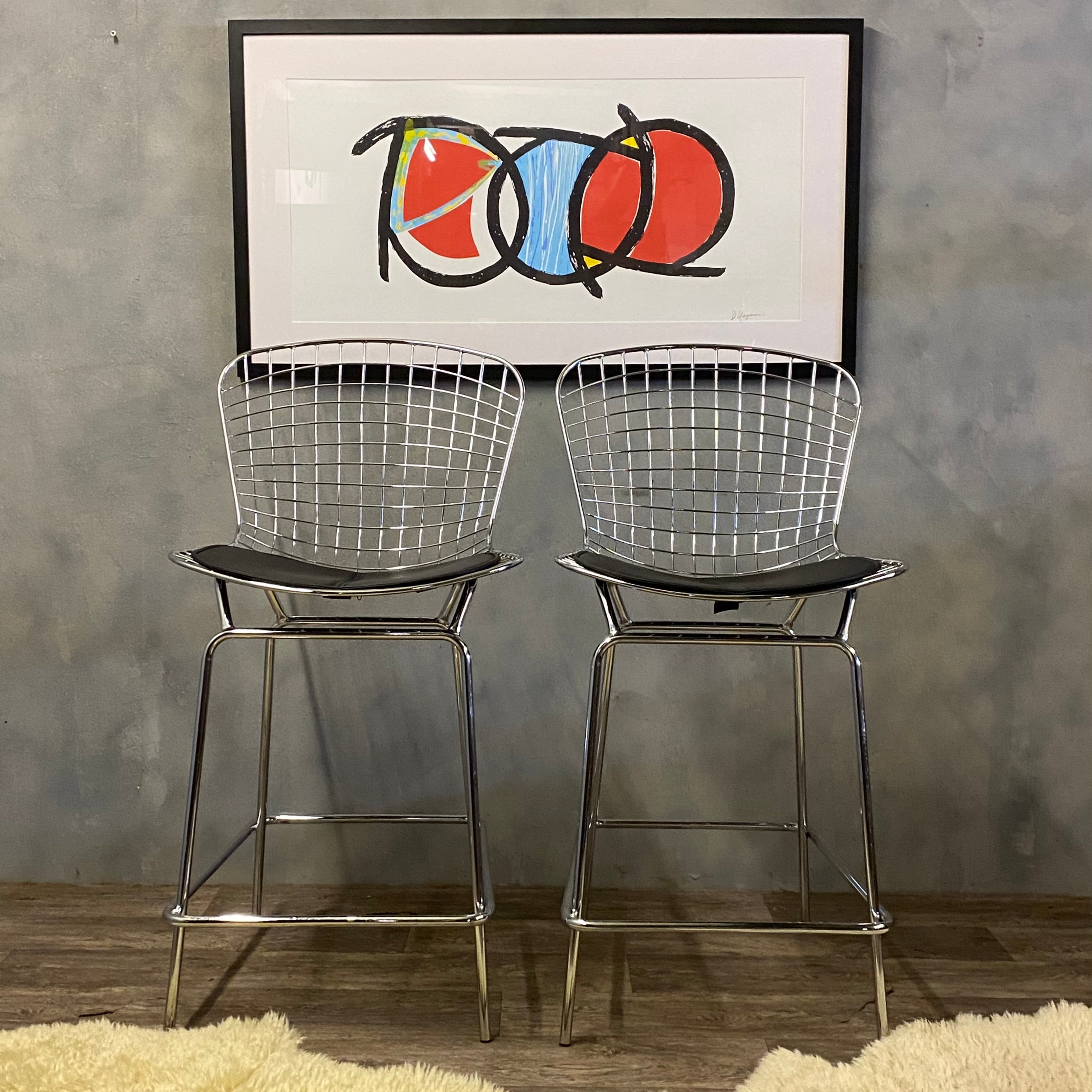Kitchen Stools Harry Bertoia Style