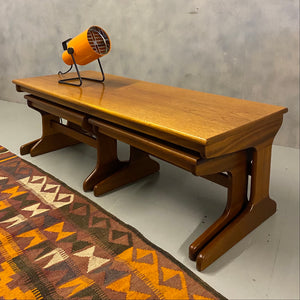 Midcentury Nest Tables Teak
