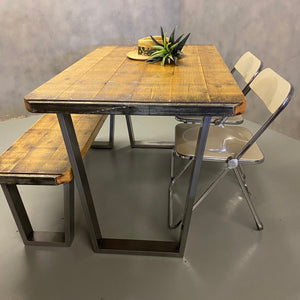 Industrial and reclaimed table bench