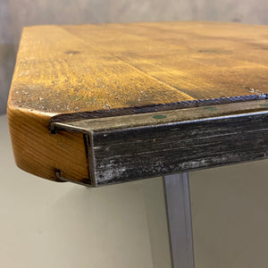 metal edged Industrial table