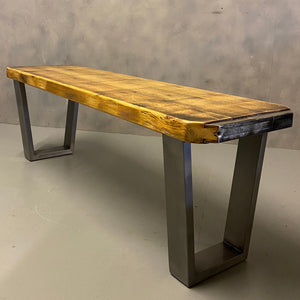 Reclaimed planks table