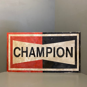 Vintage Hand painted Sign Champion
